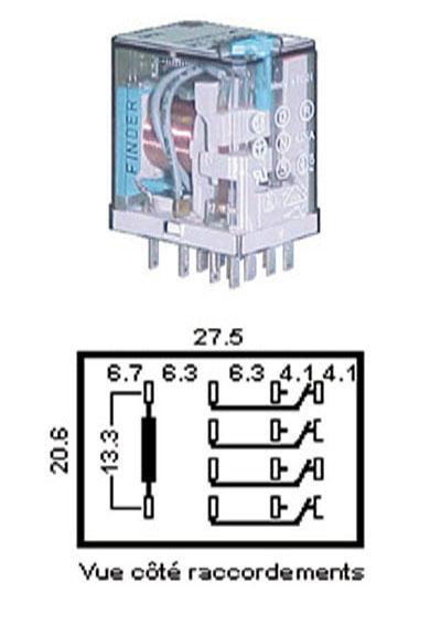 relais de puissance 4rt 230vac atlantique composants relais de puissance 4rt 230vac relais. Black Bedroom Furniture Sets. Home Design Ideas